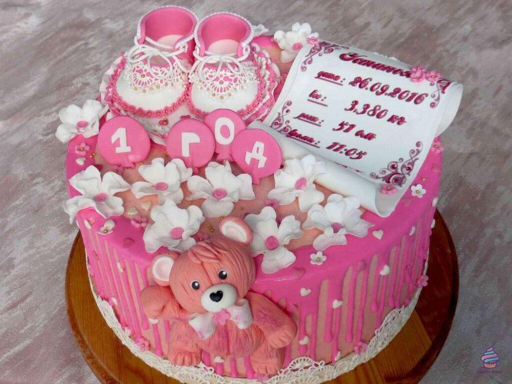 Торт для девочки на год ( 1 годик ) из натуральных ингредиентов