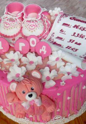Торт для девочки на год