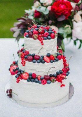 Без мастики свадебный торт