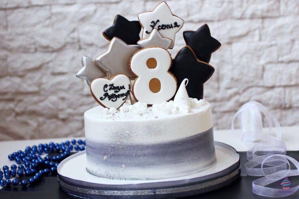 Торт на 8 лет мальчику или девочке на день рождения из натуральных ингредиентов