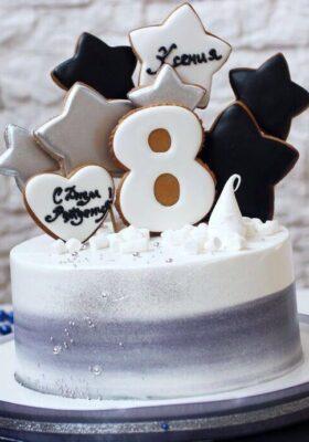 Торт на 8 лет мальчику или девочке на день рождения