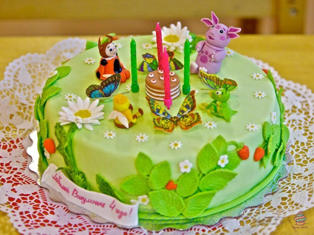 С мастикой торт для детей из натуральных ингредиентов