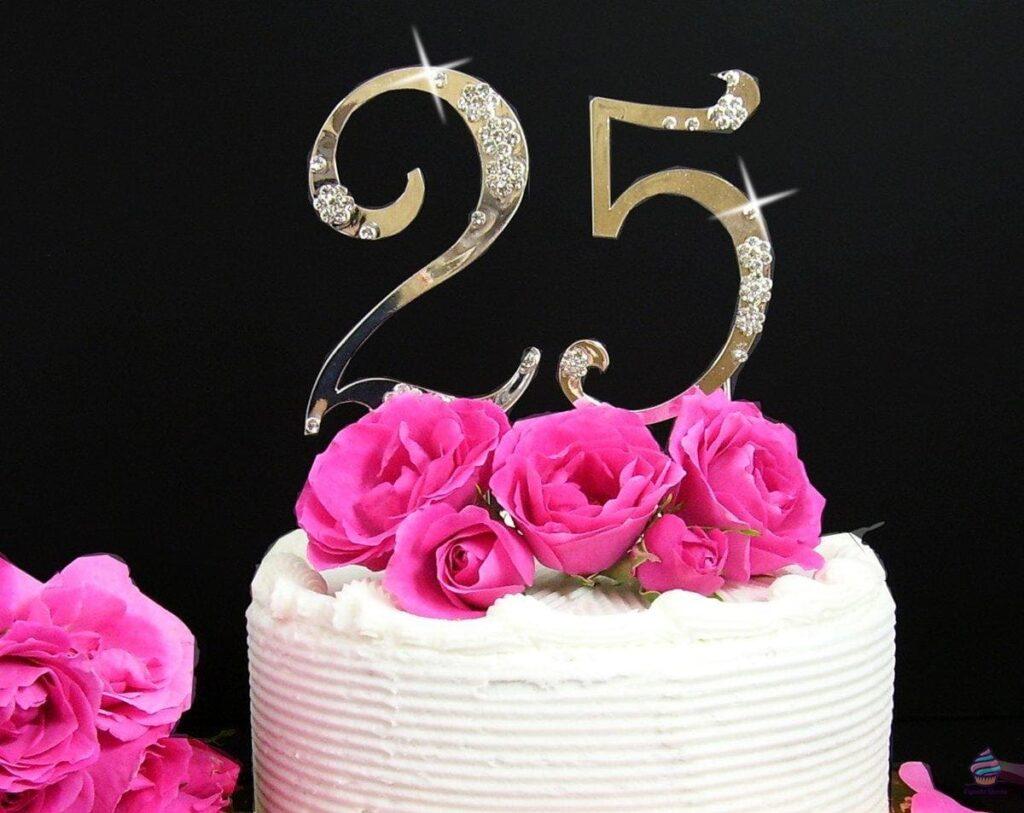 Торт на 25 лет мужчине или девушке на день рождения из натуральных ингредиентов