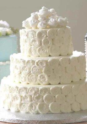 Недорогой свадебный торт