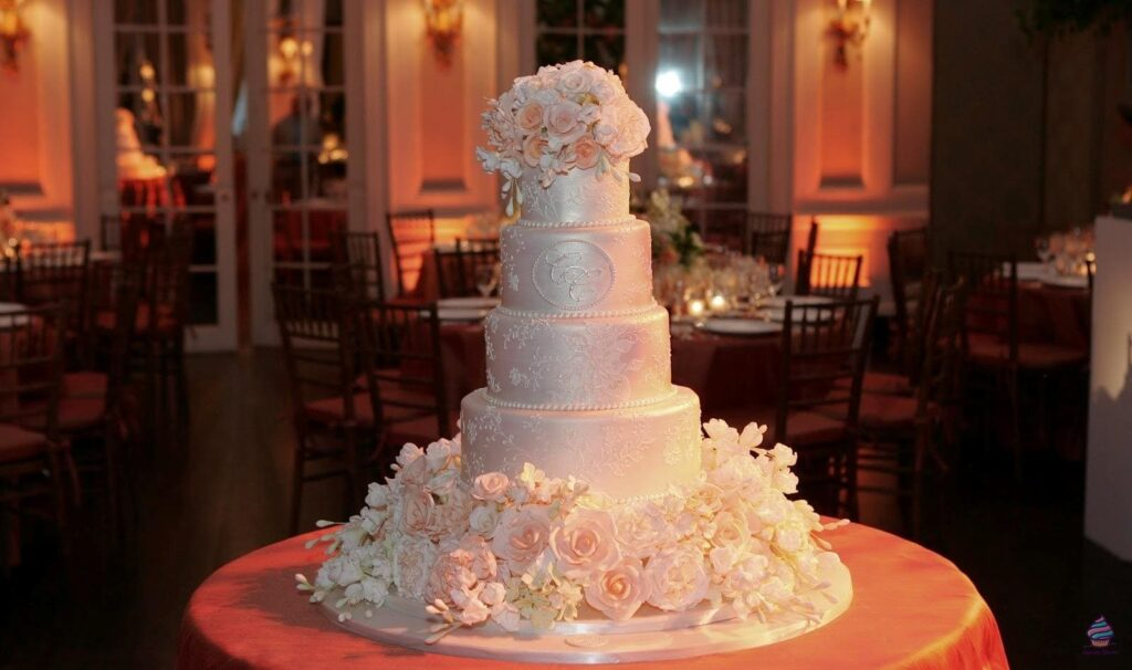 Большой свадебный торты из натуральных ингредиентов