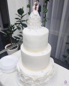 Трехъярусный свадебный торт на заказ