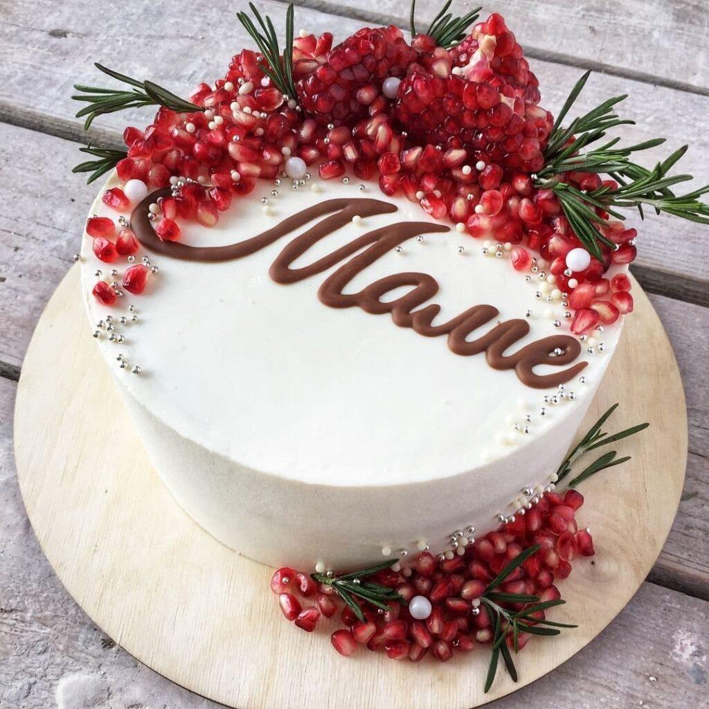 Торт на заказ на день рождения маме из натуральных ингредиентов