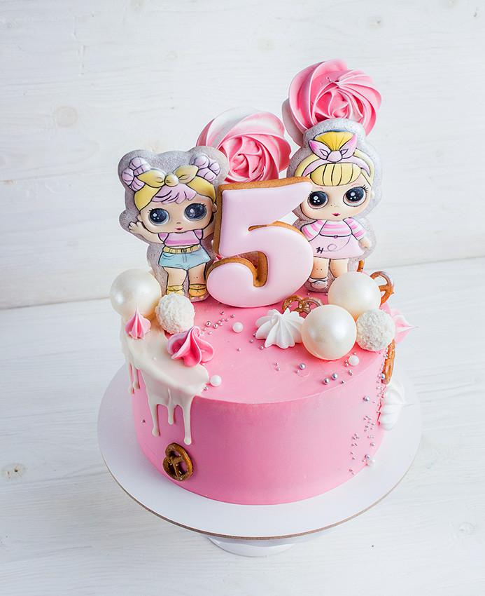 Торт кукла ЛОЛ (LOL) купить из натуральных ингредиентов