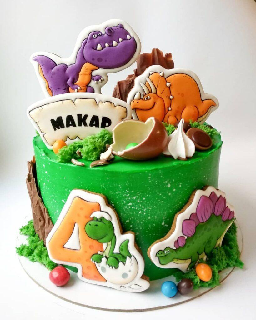 Торт на заказ 4 года мальчику купить из натуральных ингредиентов