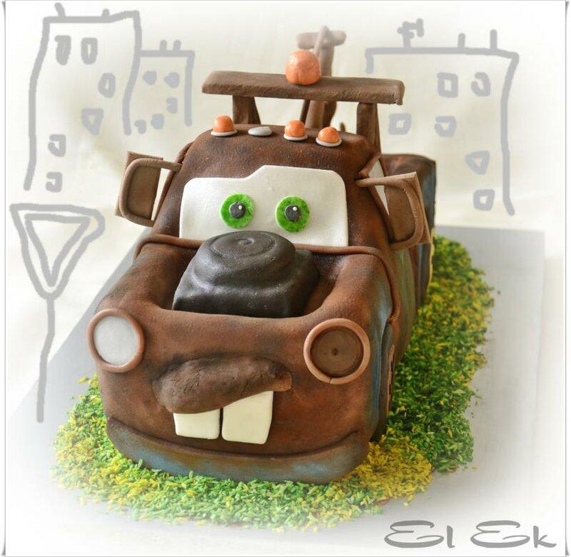 Торт на заказ в виде машины купить из натуральных ингредиентов