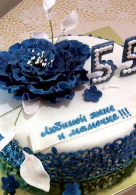 Заказать торт на 55 лет