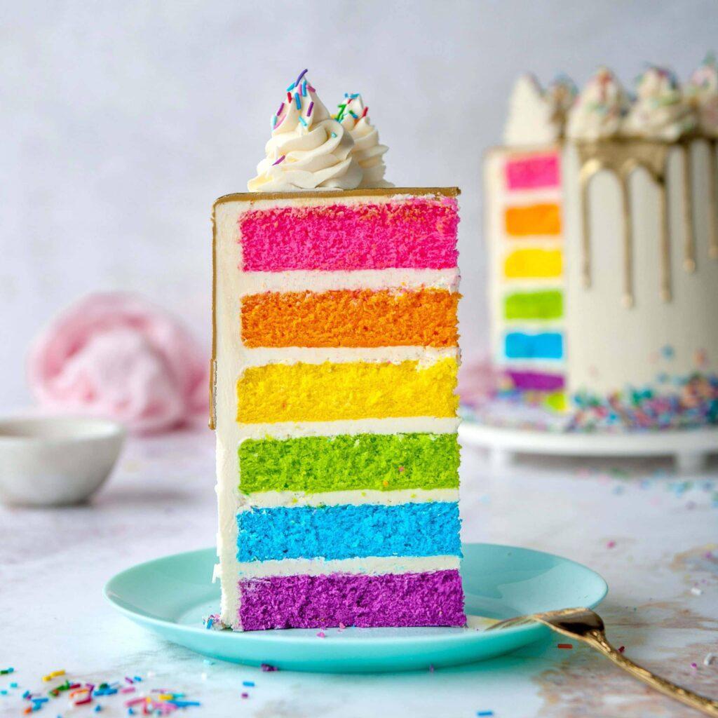 Радужный торт заказать купить из натуральных ингредиентов