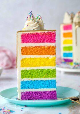 Радужный торт заказать