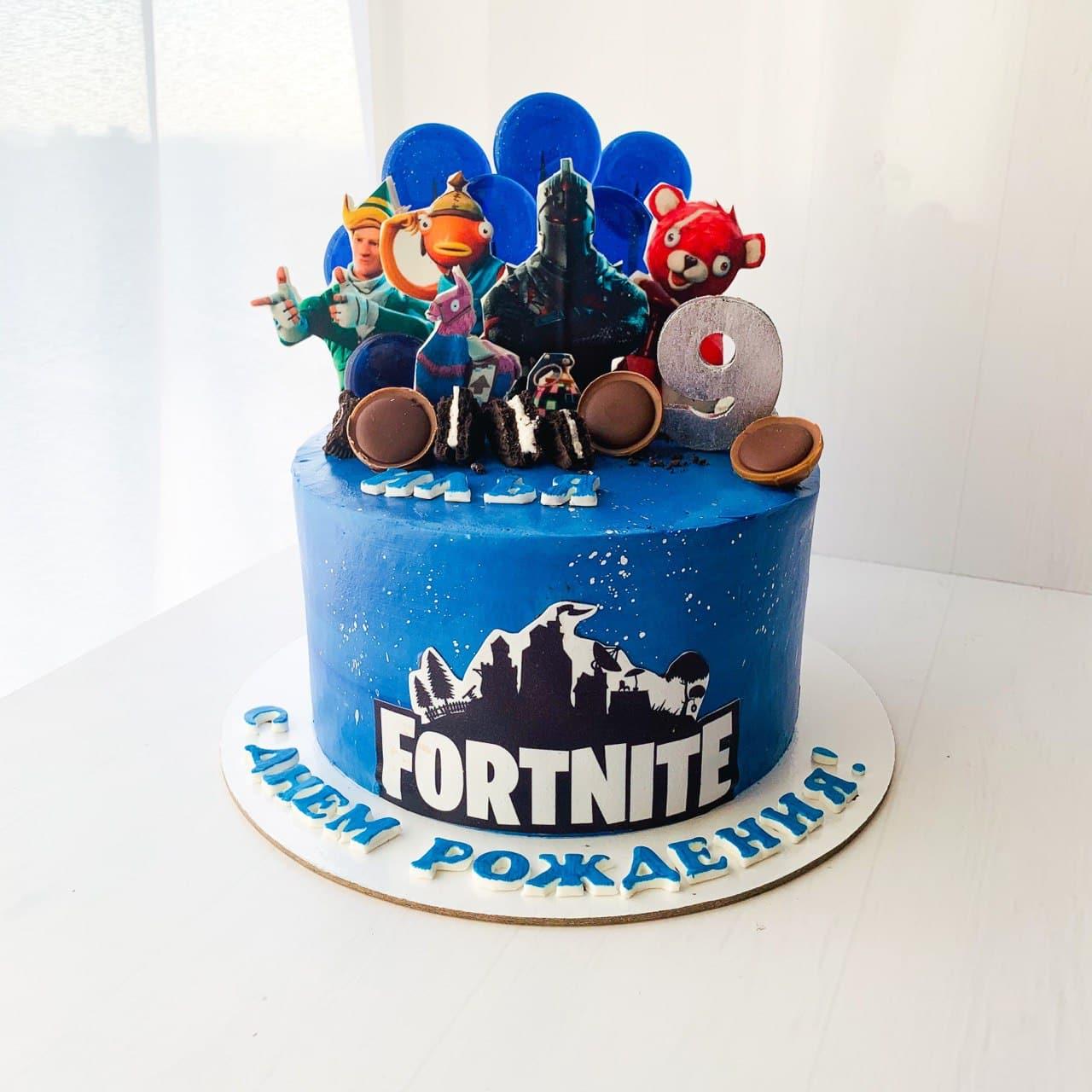 Торт на заказ Фортнайт (Fortnite) заказать из натуральных ингредиентов