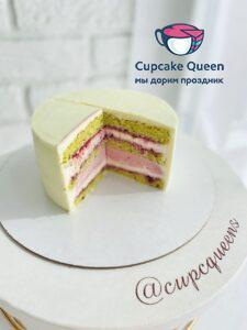 Фисташка малина торт на заказ