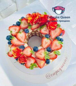 Открытый торт медовик на заказ